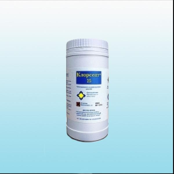 Клорсепт 25 (300 таблеток массой 4000 мг) для дезинфекции поверхностей, 1кг.