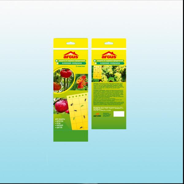 Ловушка клеевая Аргус от садовых вредителей, тля, мошка, белокрылка