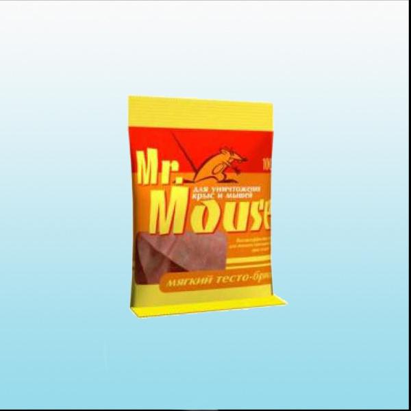 От грызунов приманка Mr Mouse мягкий  тесто-брикет 100гр