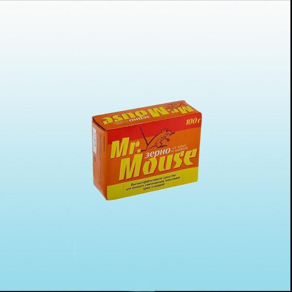Тесто-брикет от грызунов MR. MOUSE 100 гр