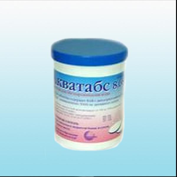 акватабс 1,67г упаковка 320шт таблетки для дезинфекции воды.