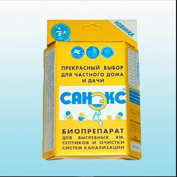 165_0Санэкс 400г .Препараты по уходу за септиками, выгребными ямами и туалетами