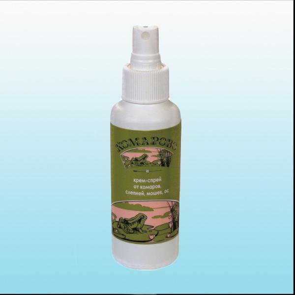 Комарово крем-спрей репеллентный от комаров флакон 100мл